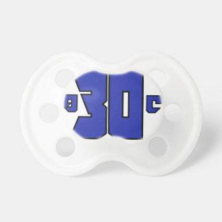 に30一族のロゴ(Playstationの青) おしゃぶり