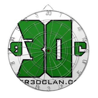に30一族のロゴ(Xboxの緑) ダーツボード