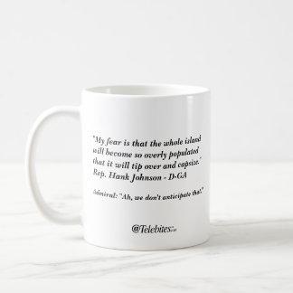 """に""""ひっくり返ないために注意しないで下さいグアムが"""" コーヒーマグカップ"""