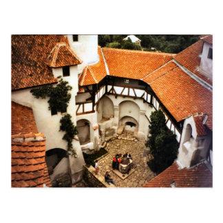 ぬかの城、トランシルバニアの中庭 ポストカード