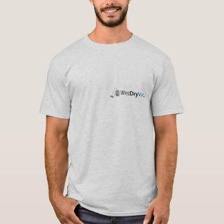 ぬれた乾燥したVacsのロゴのワイシャツ Tシャツ