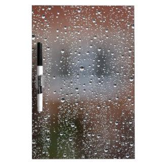 ぬれた窓からの眺め ホワイトボード