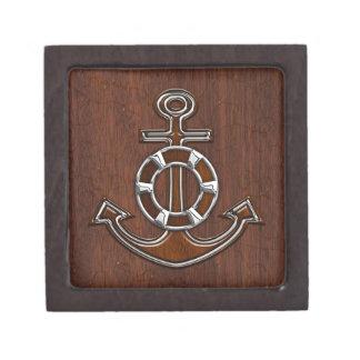 ぬれた航海のなマホガニーのいかりの鋼鉄装飾 ギフトボックス