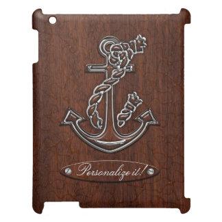 ぬれた航海のなマホガニーのいかりの鋼鉄 iPad CASE