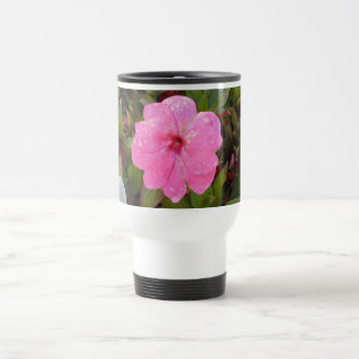 ぬれた花のマグ-スタイルを選んで下さい及び色は、カスタマイズ トラベルマグ