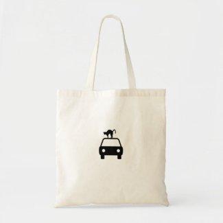 ねこ自動車 キャンバスバッグ