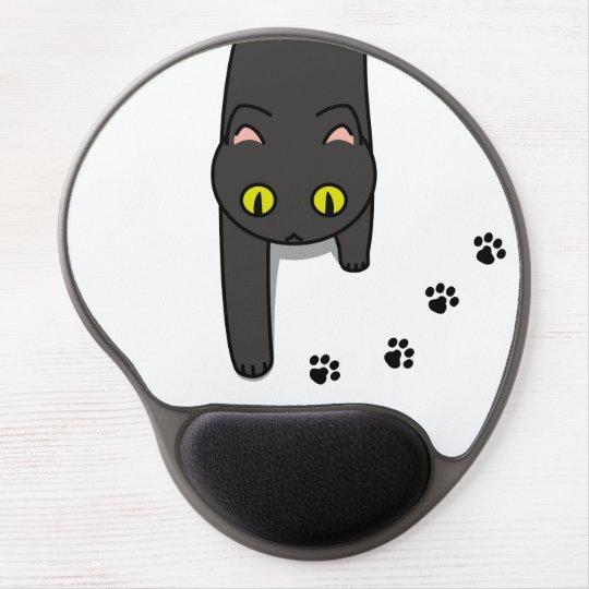 【ねこ通り抜け中(クロ)】 The cat passing through (Black) ジェルマウスパッド