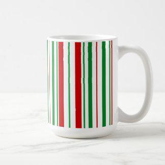 ねじれのクリスマスのマグが付いているペパーミント コーヒーマグカップ