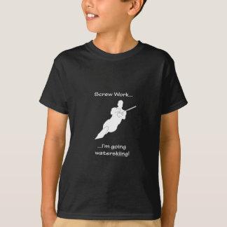 ねじ仕事の…行く水上スキー Tシャツ