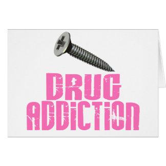 ねじ麻薬の常用のピンク カード