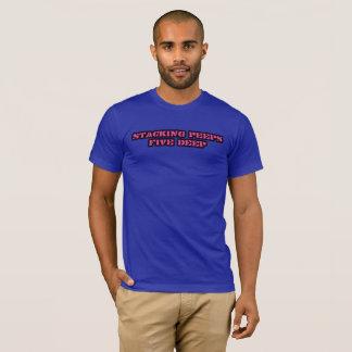 のぞき見の積み重ね Tシャツ