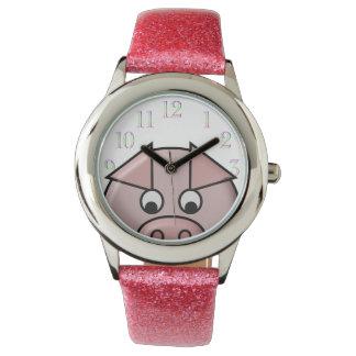 のぞくブタ 腕時計