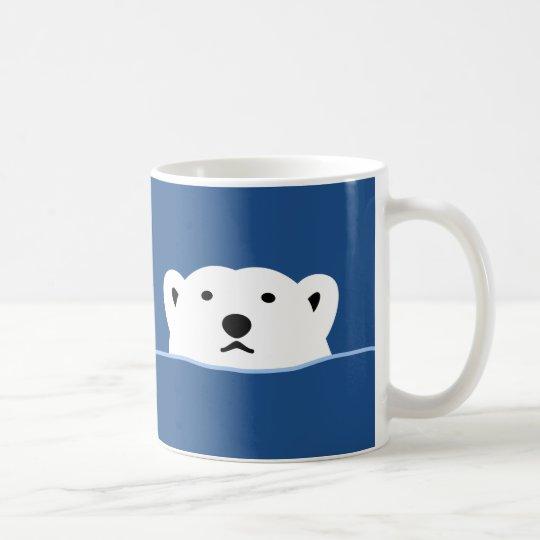 【のぞくホッキョクグマ(濃色地用)】 Looking polar bear (for dark) コーヒーマグカップ