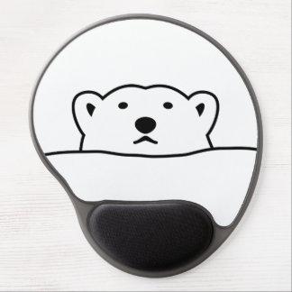 【のぞくホッキョクグマ】 Looking polar bear ジェルマウスパッド