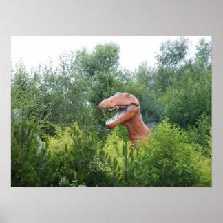 のぞく恐竜ポスター ポスター