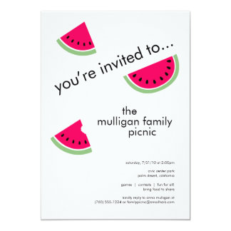 のためのスイカのパーティの招待状は引き起こります 12.7 X 17.8 インビテーションカード