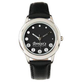 のための数を用いるダンサーの時計ダンサー 腕時計