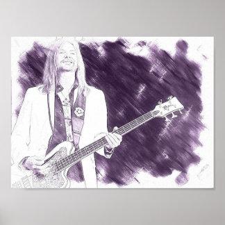 のため音楽愛好者(ベースギター) ポスター