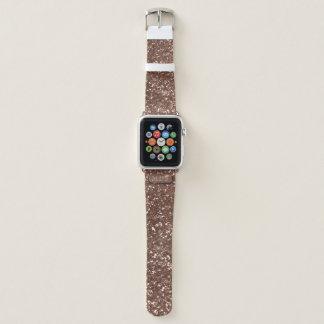 のどのばら色の金ゴールドのグリッターのAppleの時計バンド Apple Watchバンド