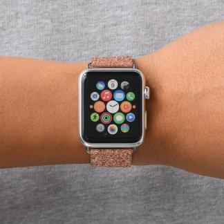 のどのばら色の金ゴールドのグリッターのClasicの上品の優雅 Apple Watchバンド