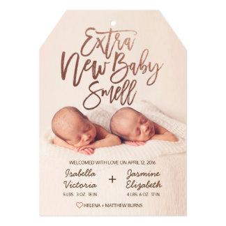 のどのばら色の金ゴールドの余分新生児の臭い カード