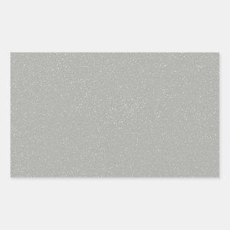 のどの罰金のグリッターのPANTONEの氷河灰色 長方形シール