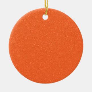 のどの罰金のグリッターのPANTONEの蜜柑のオレンジ セラミックオーナメント