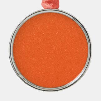 のどの罰金のグリッターのPANTONEの蜜柑のオレンジ メタルオーナメント