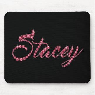 """のどの""""ルビー色の""""宝石のStaceyの原稿 マウスパッド"""