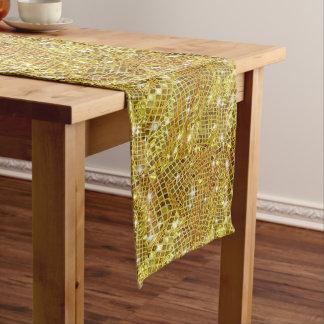 、のど光っている、モダン金ゴールドのグリッター、クリスマス ミディアムテーブルランナー