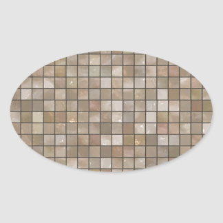のど|タン|床|タイル|イメージ 卵形シールステッカー