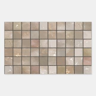 のど|タン|床|タイル|イメージ 長方形シール・ステッカー