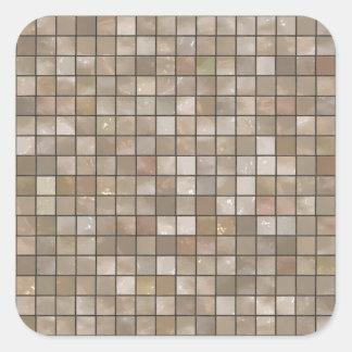 のど|タン|床|タイル|イメージ 正方形シールステッカー