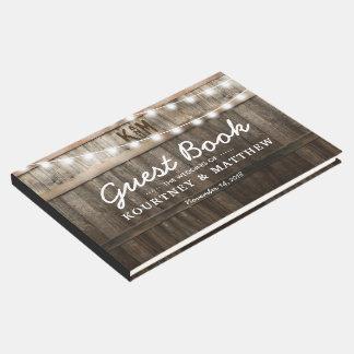 |のひもライトを結婚する素朴な国 ゲストブック