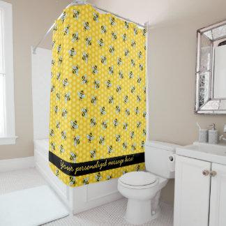 のまわりにおよび蜜蜂の巣パターン シャワーカーテン