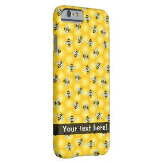 のまわりにおよび蜜蜂の巣パターン iPhone 6 ベアリーゼアケース