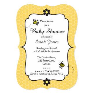 のまわりにのテーマのベビーシャワーの招待状 カード