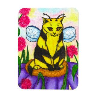 のまわりに妖精猫のファンタジーの芸術の磁石 マグネット