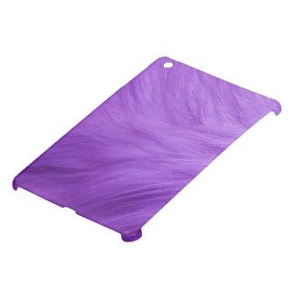 のように毛皮で覆われた深く王室のなすみれ色の紫色のプラム毛皮 iPad MINI CASE