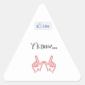 のように、Y'know…ものは何でも。 -三角形のステッカー 三角形シール
