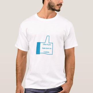 のようにTシャツの文字を憎めば Tシャツ