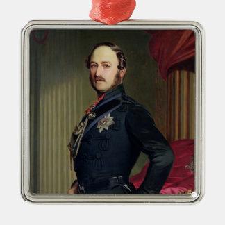 のアルバート王子ポートレート(1819-61年) 1859年(cの油 メタルオーナメント