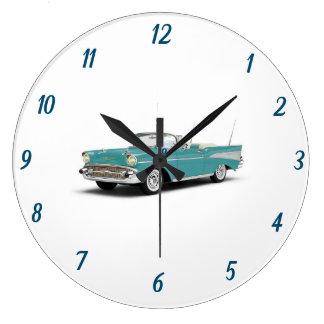 ****のクラシック57 CHEVYの****の時計 ラージ壁時計