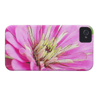 のクローズアップの眺め敏感なピンクの《植物》百日草 Case-Mate iPhone 4 ケース