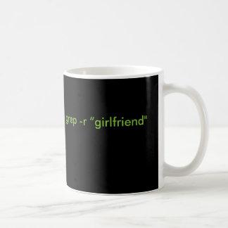 """$のグレップ-黒および緑のrの""""ガールフレンド""""のマグ コーヒーマグカップ"""