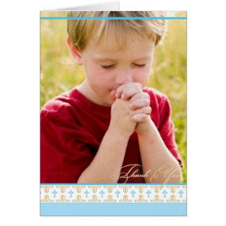 |のサンキューカードに洗礼を施す最初聖餐 カード