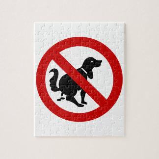 ⚠のタイの印の⚠を汚している犬無し ジグソーパズル