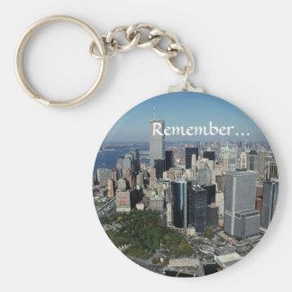 ~のツインタワーView~ WTC NYCマンハッタンを覚えて下さい キーホルダー