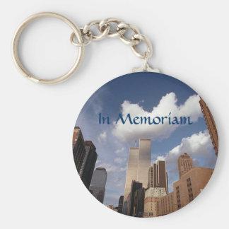 ~のツインタワーWTC NYCを記念してMemoriamの~ キーホルダー