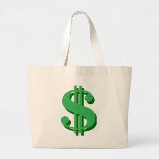 $のドル印 ラージトートバッグ